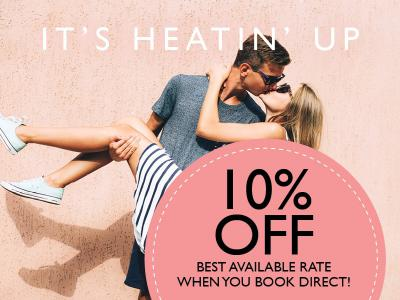Book Direct & Save 10% or more