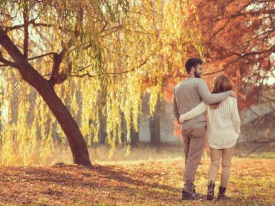 Autumn Couple on beach