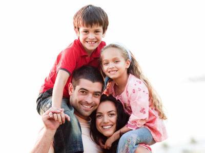 Kids On Parents Shoulders