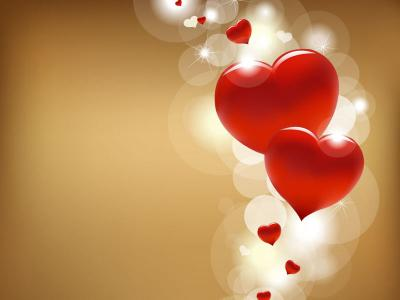Valentine Heart Brown Background