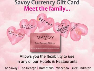 Savoy Currency Gift Cards