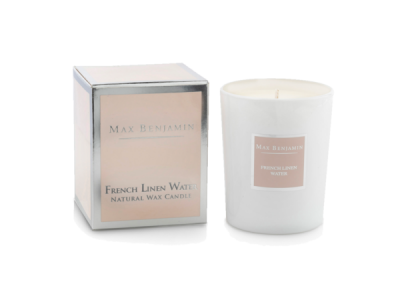Max Benjamin French Linen Winter Candle