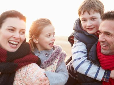 Winter Family Outside