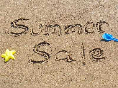 Summer Sale in Sand
