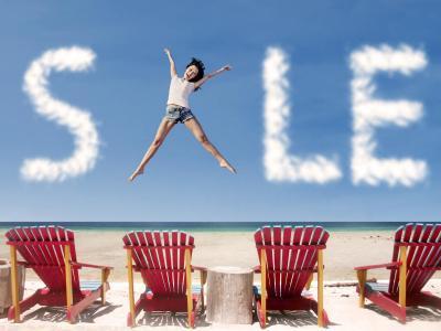 Summer Sale Jumping Girl