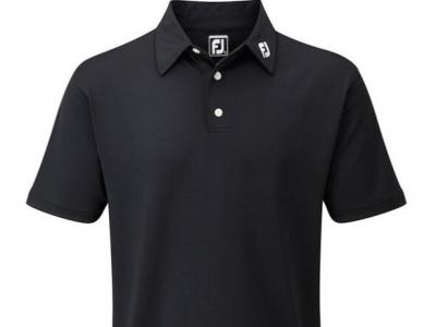FJ Mens Black Polo Shirt