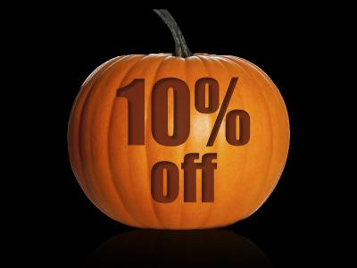 10pc off halloween