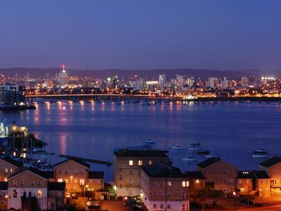Cardiff City Skyline