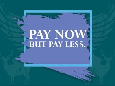 Pay Now, Pay Less