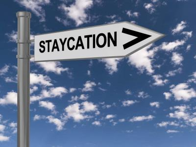 Staycation Sign