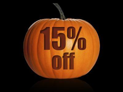 15% off Halloween