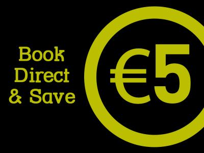 book direct and save 5 euro