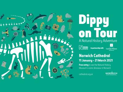 Dippy on Tour - Norwich Cathedral
