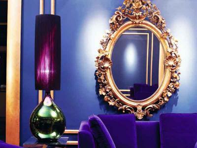 Blue Salon Mirror