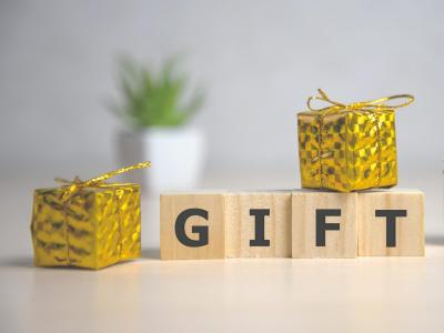 Gift word wooden squares