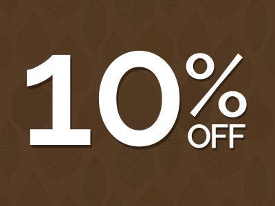 10% off autumn sale