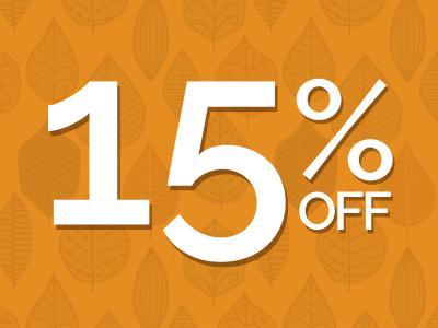 15% off Autumn Sale