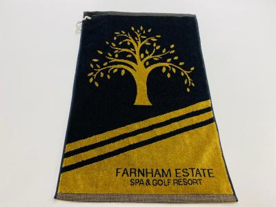Towel Black and Gold