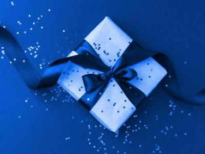 Blue Voucher Gift Box