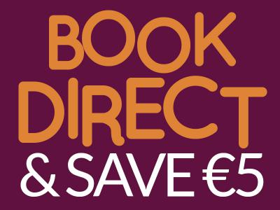 Book direct 5%