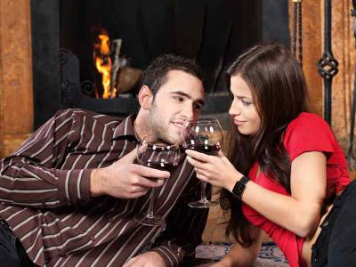 Couple With Wine 2