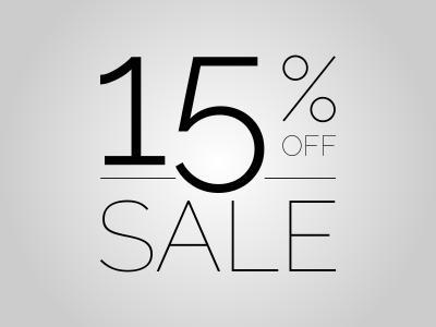 15% Sale
