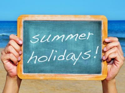 Summer Holiday Chalk Board