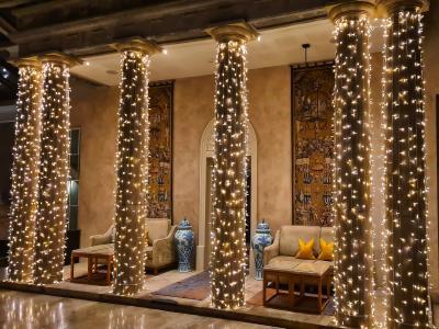 Christmas Lobby Lights