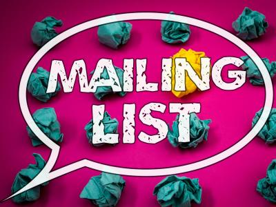Mailing List pink note