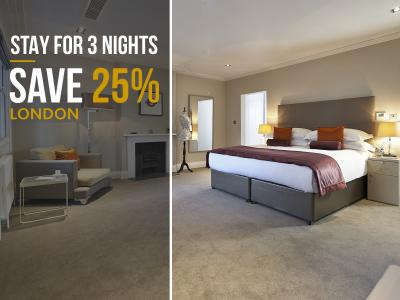STAY 3 NIGHTS SAVE 25 OFF