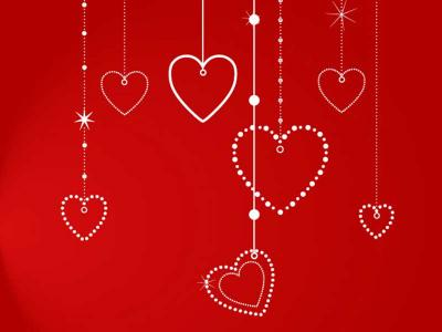 White Love Hearts