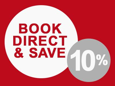 book direct and save 10%