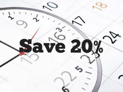save 20 procent