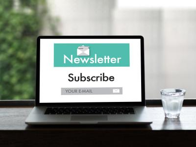 Newsletter Subscribe Laptop