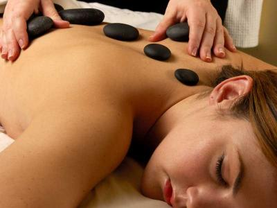 Lady Having Stone Massage