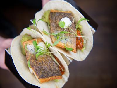 Scran Restaurant - Cajun Spiced Seabass